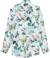 blusa dillon botania floral multicolor banana republic