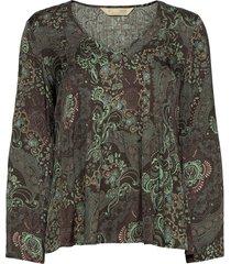amélie blouse blus långärmad grå odd molly