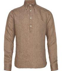 luxe linen popover shirt overhemd casual bruin eton