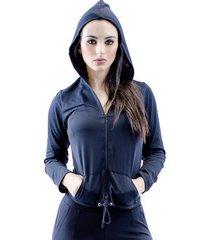 casaco dry fit cajafit preto - preto - feminino - dafiti