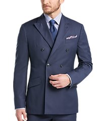 joseph abboud blue double breasted multistripe slim fit suit