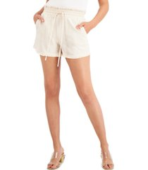 inc earth paper-bag waist shorts, created for macy's