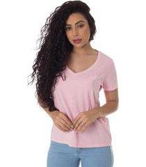 t-shirt osmoze z 602110167 rosa - rosa - p - feminino