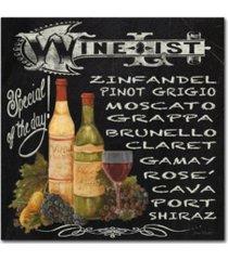 "jean plout 'wine 2' canvas art - 18"" x 18"" x 2"""