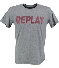 replay zacht grijs t-shirt