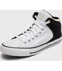 zapatilla urbana chuck taylor all star high street blanco converse