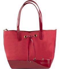 bolso rojo tipo shopping de mujer  cosmos