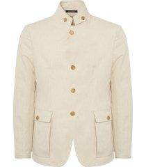 emporio armani beige linen jacket w1g23s