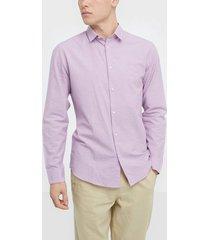 selected homme slhslimlinen shirt ls classic b skjortor ljus lila