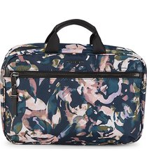 tumi women's madina abstract-print cosmetic pouch - rose floral
