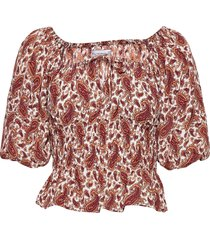 liberia top blouses short-sleeved rood faithfull the brand