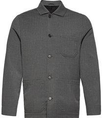 m. louis gabardine jacket overshirts grijs filippa k