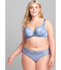 lane bryant women's lace-back cheeky panty 14/16 country blue