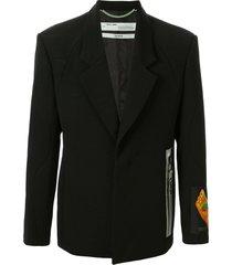 off-white hand print blazer - black