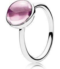 anel gotas de poesia rosa