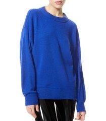 alice + olivia women's denver round-hem sweater - cobalt - size xl