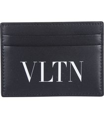 valentino garavani logo print card holder