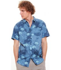 camisa hombre azul maui and sons