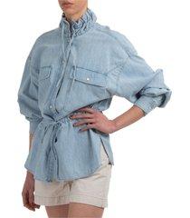 camicia donna maniche lunghe blusa madras