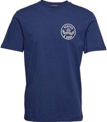 crewneck tee with logo artwork t-shirts short-sleeved blå scotch & soda
