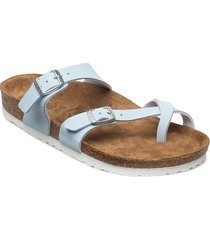 mayari vegan shoes summer shoes flat sandals blå birkenstock