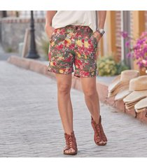 sundance catalog women's sunny blossom shorts in floral 6