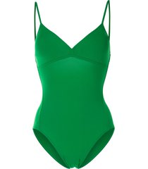 eres triangle one-piece swimsuit - green