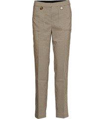 u5054, woven pants w visible pocket pantalon met rechte pijpen beige saint tropez