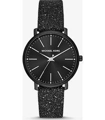 mk orologio pyper nero decorato con cristalli swarovski® - nero (nero) - michael kors