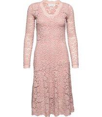 dress ls knälång klänning rosa rosemunde
