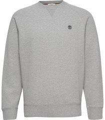 e-r basic regular crew sweat-shirt tröja grå timberland