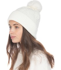 inc beanie with 2 interchangeable poms, created for macy's