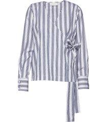 nicole blouse lange mouwen blauw fall winter spring summer