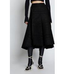 proenza schouler tweed a-line skirt black 8