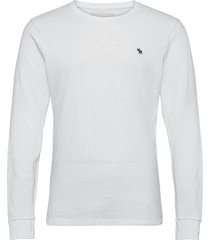 anf mens knits t-shirts long-sleeved vit abercrombie & fitch