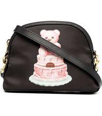 moschino cake teddy bear crossbody bag - black