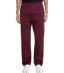 maison margiela pants in bordeaux polyamide