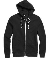 alternative apparel modern fit rocky eco-fleece hoodie black