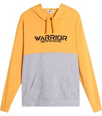 buzo hombre bordado warriors color amarillo, talla l