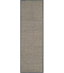 """safavieh natural fiber natural and dark grey 2'6"""" x 8' sisal weave runner area rug"""