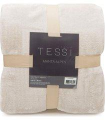 manta cationic blanket casal 1,80m x 2,20m 300g/m² - tessi - creme