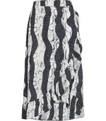 pzsnake skirt knälång kjol multi/mönstrad pulz jeans