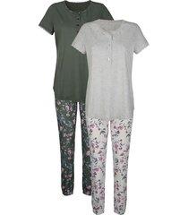 pyjama's per 2 stuks blue moon beige::olijf::lila
