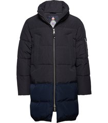 long quilted down jacket gevoerd jack blauw scotch & soda