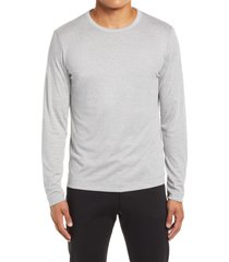 theory gaskell long sleeve crewneck men's shirt, size large in grey multi at nordstrom