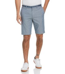 "original penguin men's grosgrain trim oxford 10"" shorts"