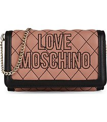 quilted faux leather chain wallet
