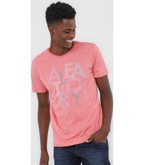 camiseta aleatory casual rosa - rosa - masculino - dafiti