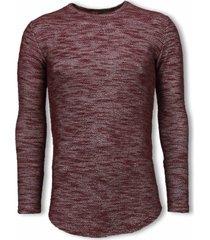 © man gemeleerde shirt