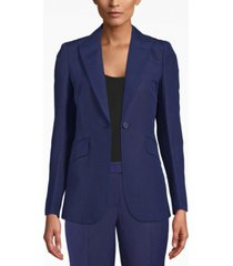 anne klein peak-lapel long blazer
